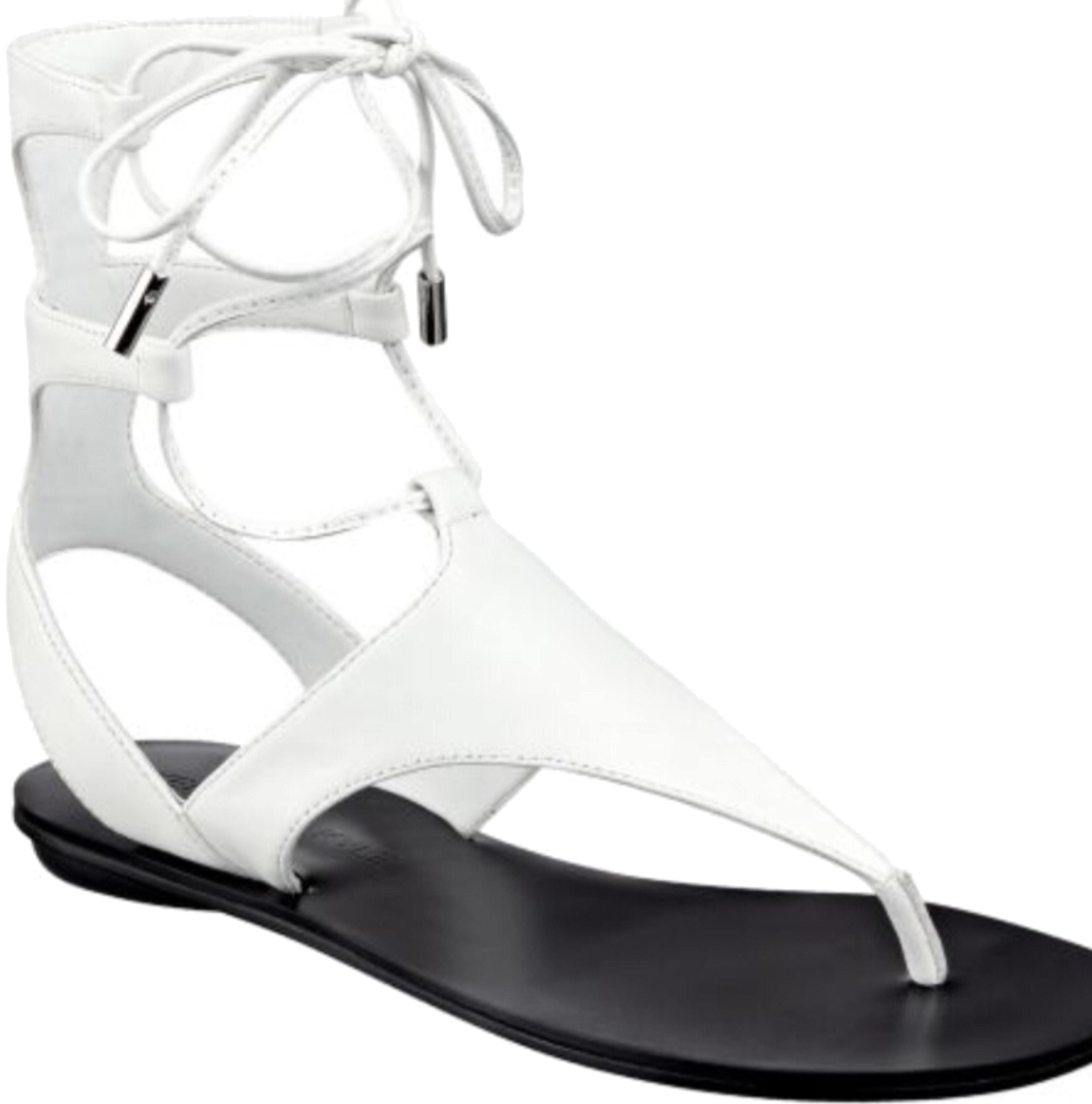 53dd54885f0 Kendall + Kylie Kylie Kylie White Faris Sandals Size US 7 Regular (M ...