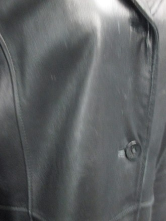Kenneth Cole Reaction Black Leather Long Sleeve Lined Button Up Coat Sm4330 on sale