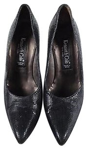 Kenneth Cole Womens Leather Heels Pointy Toe Black Pumps