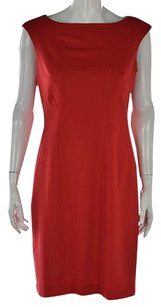 Kenneth Cole Petite Womens Sheath 10p Sleeveless Knee Length Dress