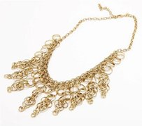 Kenneth Jay Lane Kenneth Jay Lane Gold Tone Chainmail Chain Link Necklace