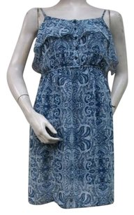 Kensie short dress Blue Tile Spaghetti on Tradesy