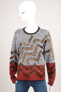 Kenzo Black White Red Wool Sweater