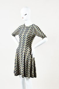 Kenzo short dress Taupe, Yellow, Blue Taupe Yellow Wool on Tradesy