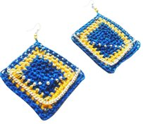 Khosi Clothing & Accessories Khosi Clothing Chain Link Crochet Earrings
