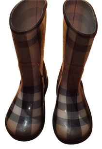 Kids burberry rain boots Plaid Boots