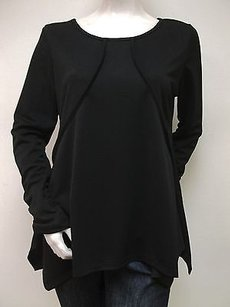 Kikit Long Ruched Sleeve Piping Flare Usa Top Black