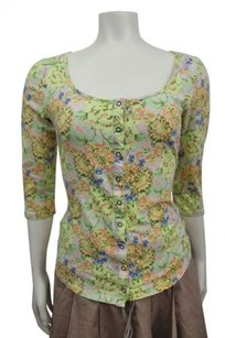 Kimchi Blue Floral Top Green,multi