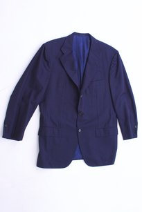 Kiton Kiton Men's Navy Wool Blazer