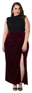 Kiyonna Maxi Skirt Rich Burgundy