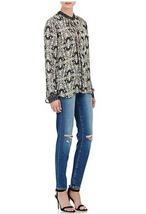 L'AGENCE Mon Jules Distressed Blue Stretch Denim Skinny Jeans
