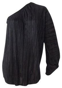 L'AGENCE One Long Sleeve Pleated Hs1069 Top Black