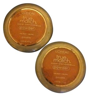 L'Oréal LOREAL 2-Peice BRAND NEW Loreal Paris True Match Super-Blendable Powder-1-Shell BEIGE-1-True BEIGE- Retail For Both $29.98