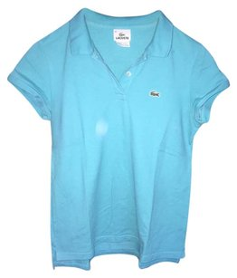 Lacoste Alligator Polo Preppy Button Down Shirt Turquoise