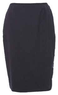 Lafayette 148 New York Black Wool Skirt Charcoal
