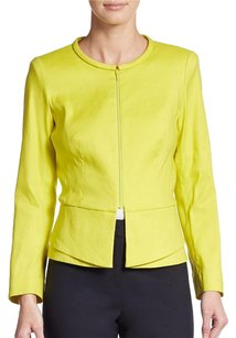 Lafayette 148 New York Peplum Green Green Lime Yellow Blazer