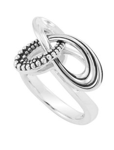 Lagos LAGOS 925 STERLING SILVER CAVIAR PIROUETTE RING