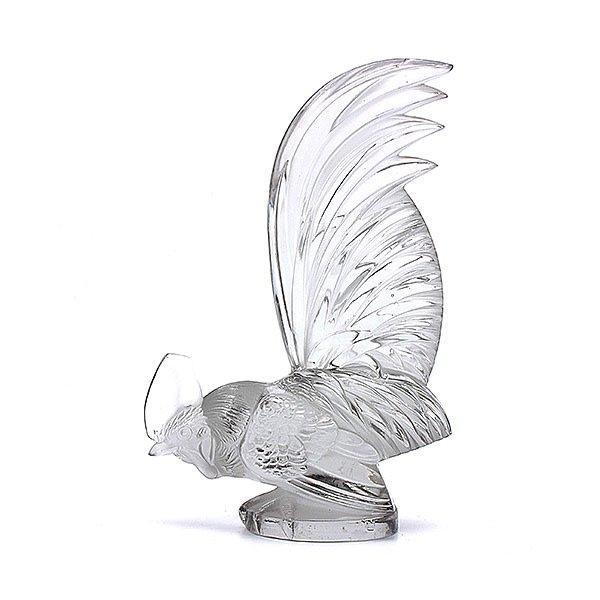 Lalique Crystal Coq Nain Rooster Figurine Decoration Tradesy