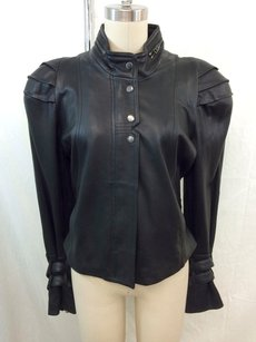 L.A.M.B. Leather Multi Buckle Motorcycle Jacket
