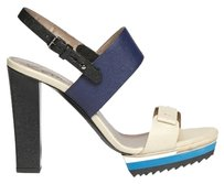 Lanvin beige, navy blue, black Sandals