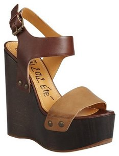 Lanvin Brown Wedges