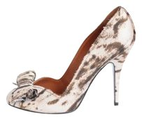 Lanvin Womens Bow Animal Browns Pumps