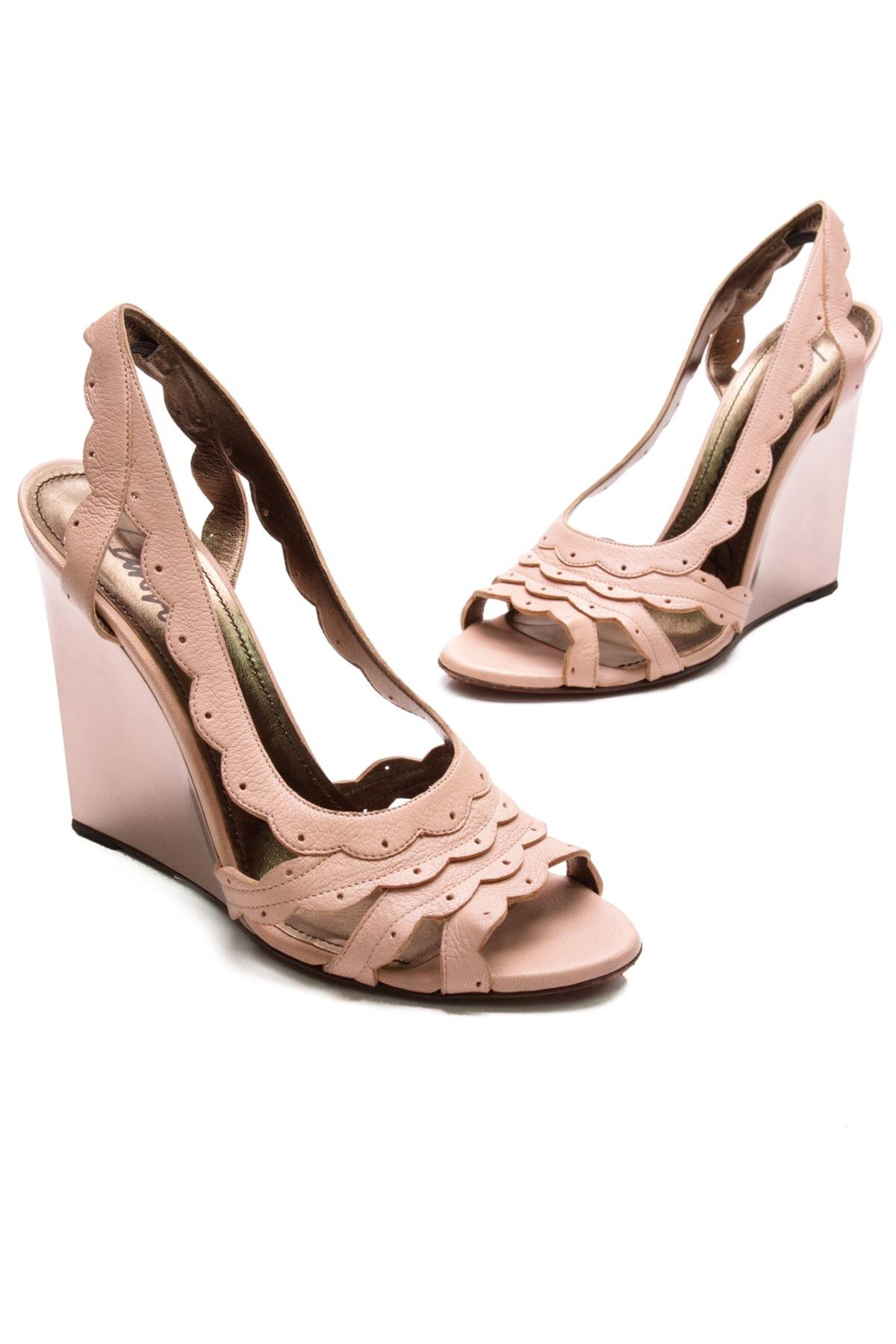 Lanvin Scalloped Slingback Sandals buy cheap best store to get clearance get to buy clearance factory outlet GLjnt