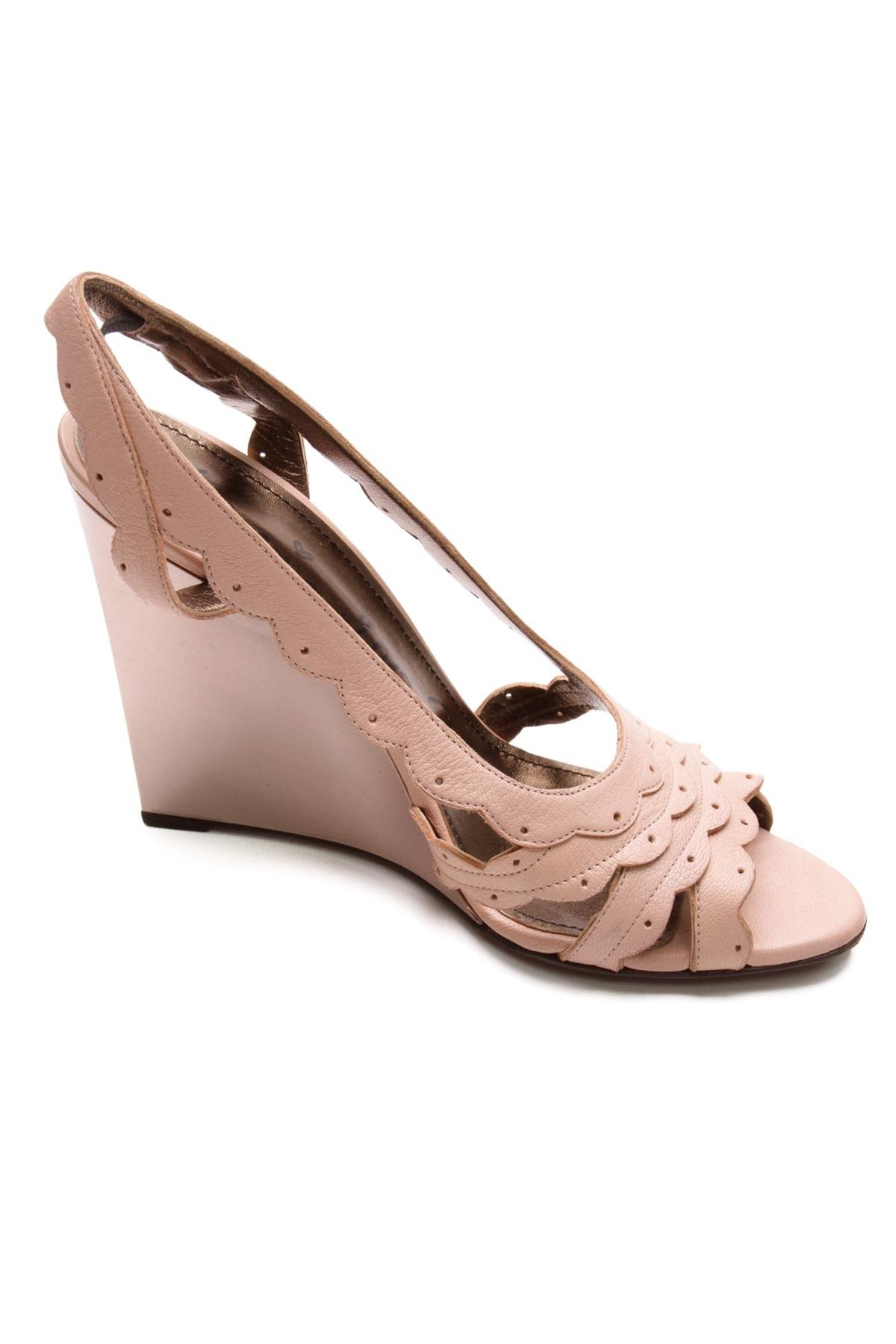 Pink scalloped wedge sandals outlet footlocker cheap outlet locations outlet where can you find YLrWv