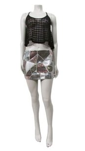 LaROK La Rok Patchwork Mini Mini Skirt Multi-Color
