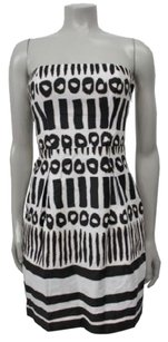 Laundry by Design Ethnic Print Strapless Dress