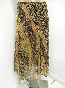 Laundry by Shelli Segal Silk Skirt Browns and Beiges