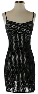 Laundry by Shelli Segal Crochet Sleeveless Shift Dress
