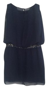 Laundry by Shelli Segal Embellished Draping Mini Cocktail Dress