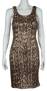 Laundry by Shelli Segal Womens Sequined Above Knee Casual Sleeveless Dress