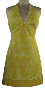Laundry by Shelli Segal Womens Yellow Geo Dress