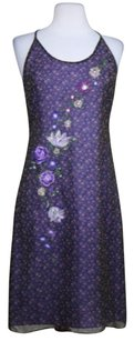 Laundry by Shelli Segal Womens Floral Med Summer Silk Dress