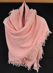 Lauren Moshi Lauren Moshi Pink Knit Kissing Lips Wrap Scarf