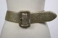 Lauren Ralph Lauren Lauren Ralph Lauren Womens Gold Belt Leather Animal Print Wide Width Casual