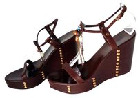 Le Silla Leather Sandal Wedges