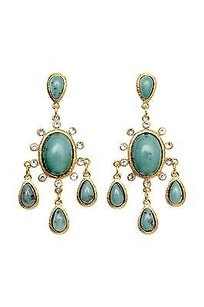Lee Angel Lee Angel Treasure Hunt Cabochon Cream Crystal Chandelier Earrings