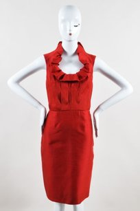 Lela Rose Scarlet Silk Dress
