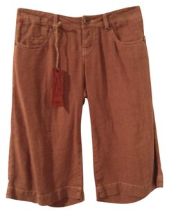 Level 99 Linen Hermes Gucci Shorts Washed Brown