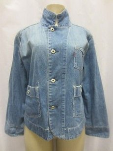 Levi's Levi Strauss Light Wash 100 Cotton Denim Button Front 50327pk Blues Jacket