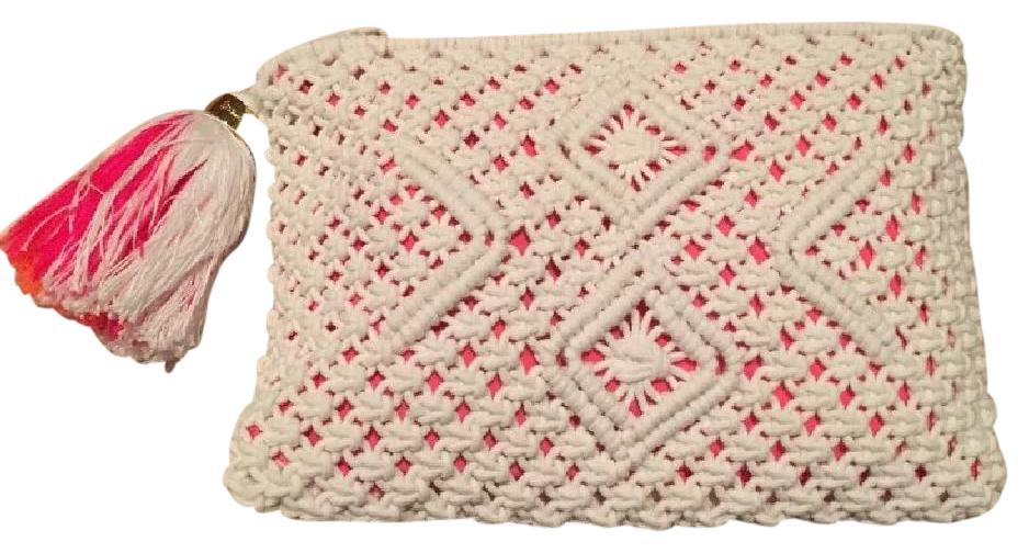 Lilly Pulitzer Crochet Casual Resort White Clutch ...