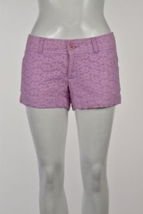 Lilly Pulitzer Womens Eyelet Embroidered Casual 0 Shorts Lilac