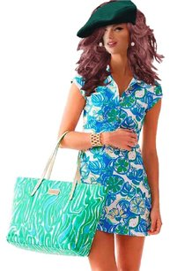 Lilly Pulitzer short dress BLUE, GREEN on Tradesy