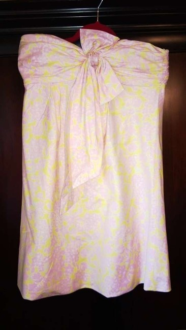 Lilly Pulitzer short dress Pink, Yellow, Silver, White on Tradesy