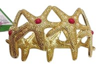 Lilly Pulitzer Lilly Pulitzer Starfish Cuff Gold Coral White Sealed
