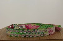 Lilly Pulitzer Lilly Pulitzer Womens Pink Green White Yellow Floral Belt 100 Cotton