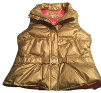 Lilly Pulitzer Gold Puffy Vest